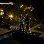 Rigging Kayla Ewell 3 stories up on THE VAMPIRE DIARIES